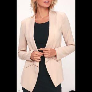 Miss Punctuality taupe lightweight blazer